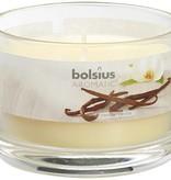 Bolsius kaarsen Vanilla fragrance glass with lid 63/90