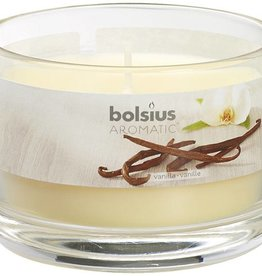 Bolsius kaarsen Vanilla glass with lid 63/90