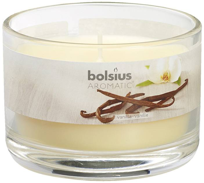 Bolsius kaarsen Smell filled glass with lid 63/90 Vanilla