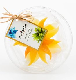 MadCandle Flower candle medium Lemon