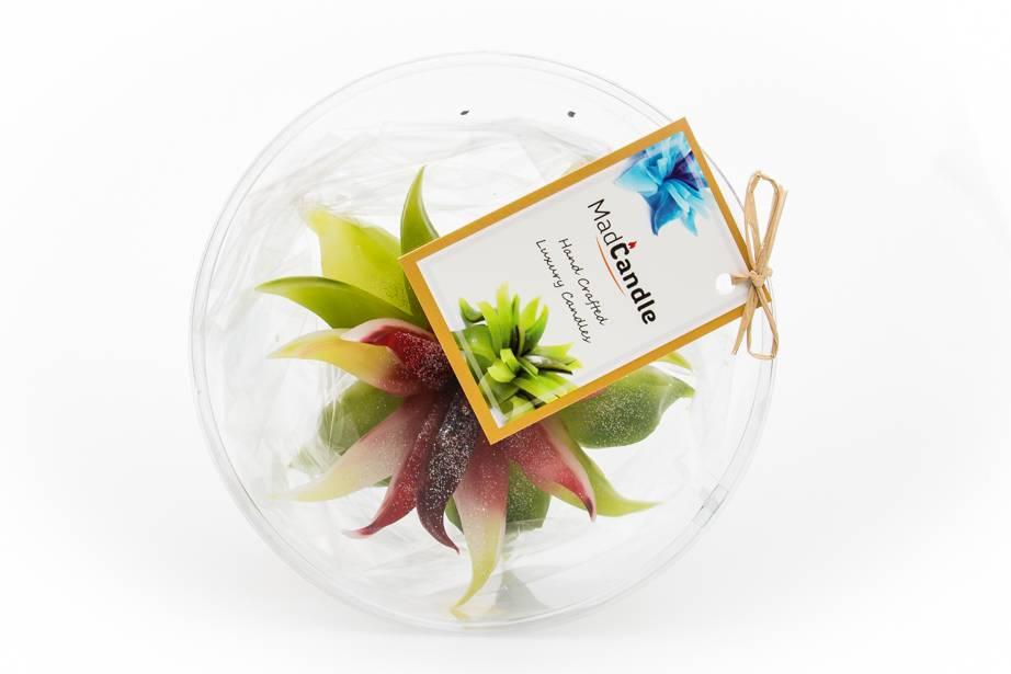 MadCandle Bloemenkaars medium groene thee