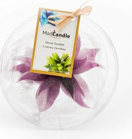 MadCandle Flower candle medium Lavender