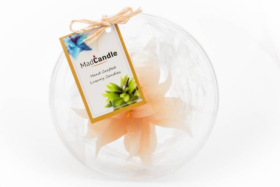 MadCandle Bloemenkaars medium vanille
