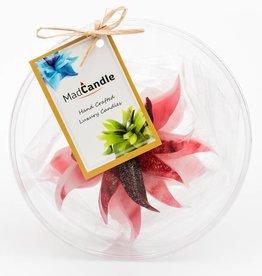 MadCandle Bloemenkaars medium aarbei