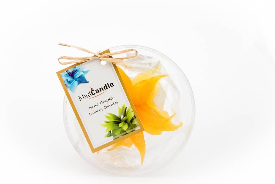 MadCandle Flower candle small Lemon