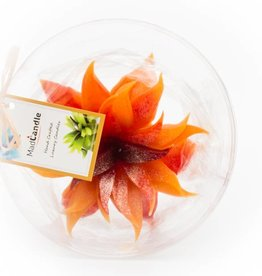MadCandle Flower candle grande orange