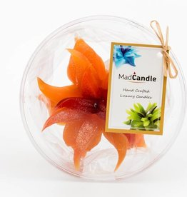 MadCandle Bloemenkaars medium sinaasappel