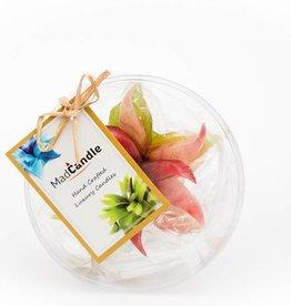 MadCandle Bloemenkaars klein groene thee