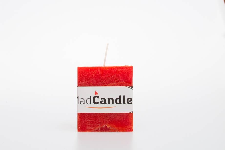 MadCandle Geurkaars kubus klein sinasappel