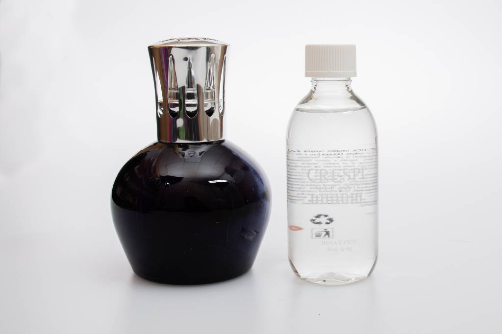 Crespi Milano Scentburnerset L06 black. Refill rose and fig (Crespi)