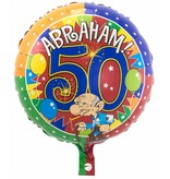 Folieballon Abraham 45cm - 1 stuk