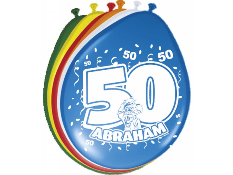 Ballonnen Abraham multicolour - 8 stuks