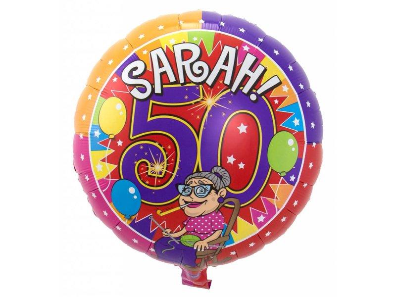 Folieballon Sarah 45cm - 1 stuk