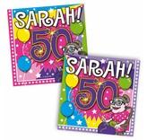 Servetten Sarah 25x25cm - 20 stuks
