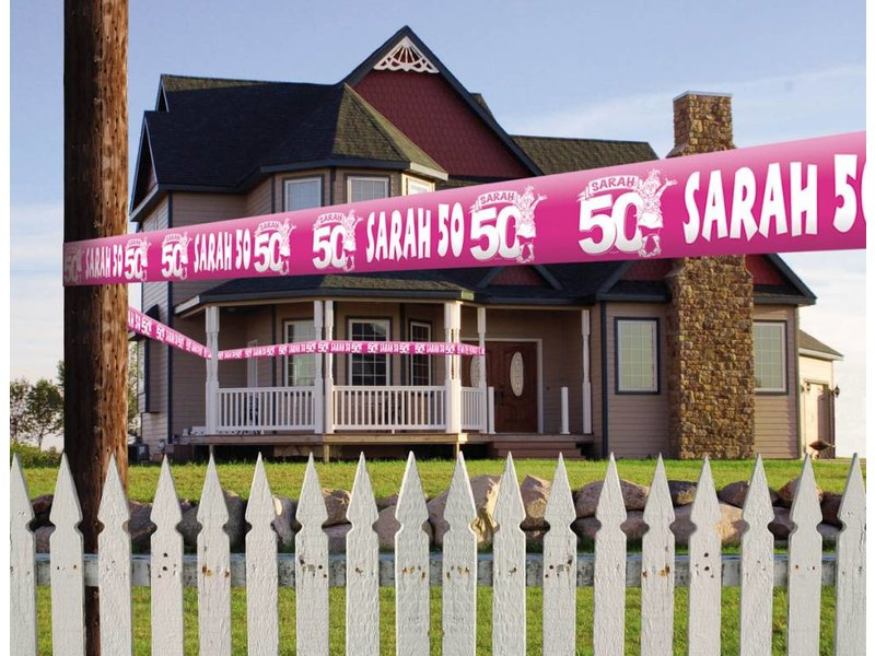 Markeerlint Sarah roze 15 meter