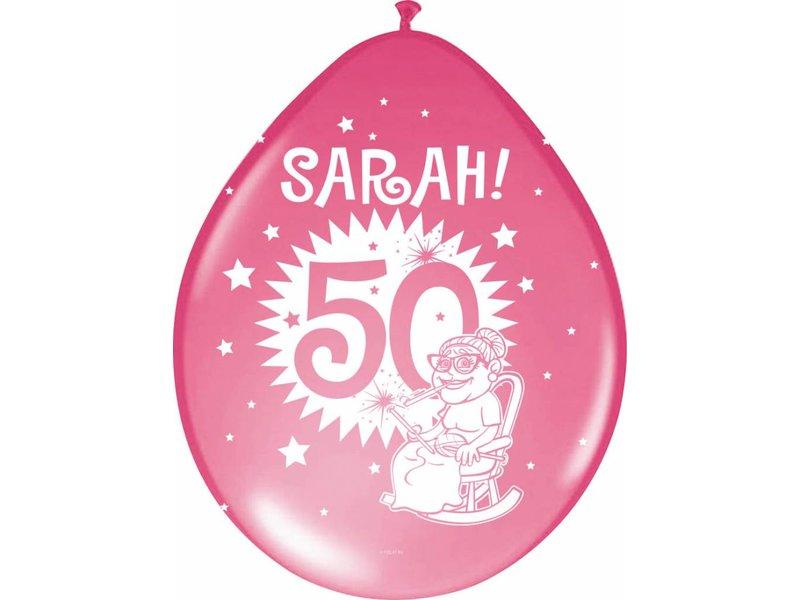 Ballonnen Sarah multicolour - 8 stuks