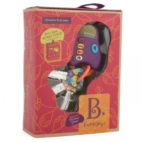 B-toys FunKeys Sleutelhanger 4 sleutels met licht en geluid