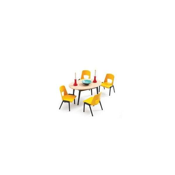 Djeco Poppenhuis eetkamer
