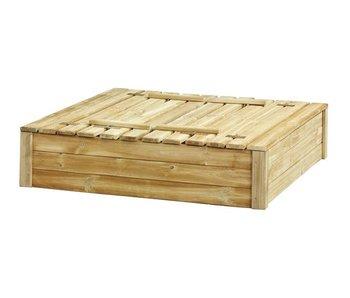 Woodvision Zandbak Tom met deksel/zitbank 120x120