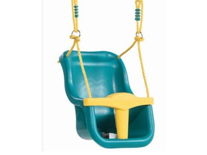Babyzitje - 'luxe' - PP geel - turquoise/geel