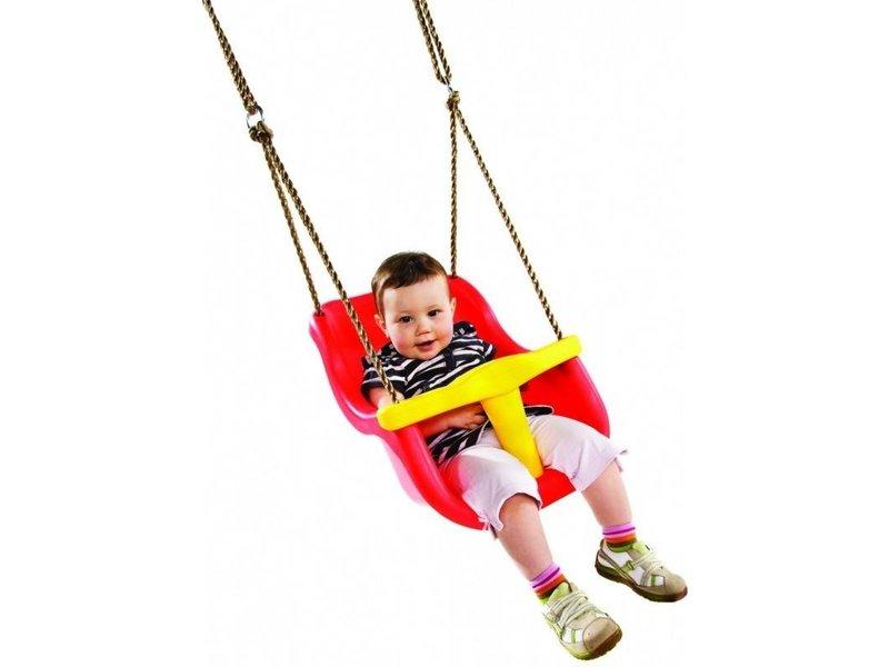 Babyzitje - 'luxe' - PP - rood/geel
