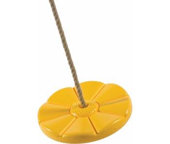 Kunststof schotelschommel - PP - geel