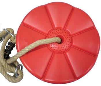 Kunststof schotelschommel - PP - rood