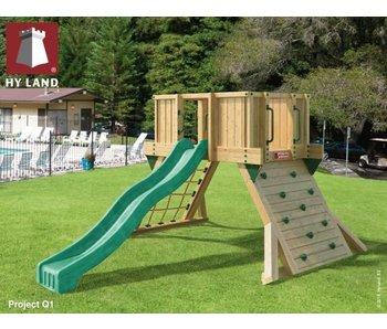 Hy-land speeltoestel Q1 - Groene glijbaan