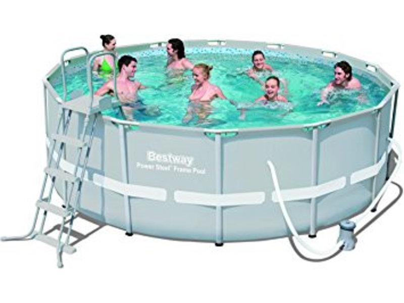 Bestway power steel frame pools 427x122 recreatiespeelgoed - Bestway power steel frame pool ...