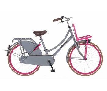 Popal Daily Dutch Basic Grijs Pink 24 inch meisjesfiets