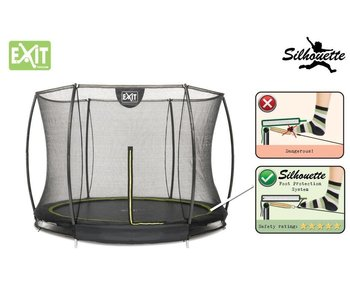 Exit Toys Silhouette Ground Trampoline 305 (10ft) + Safetynet