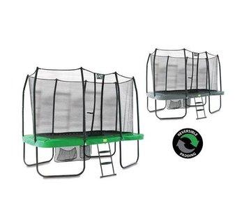 Exit Toys Jump Arena 244 x 427 rechthoekige trampoline Groen/Grijs