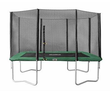 Salta Rechthoekige trampoline 214x305 met net groen