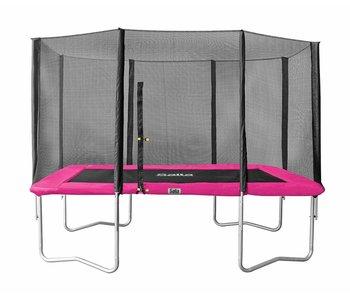 Salta Rechthoekige trampoline 214x305  met net roze