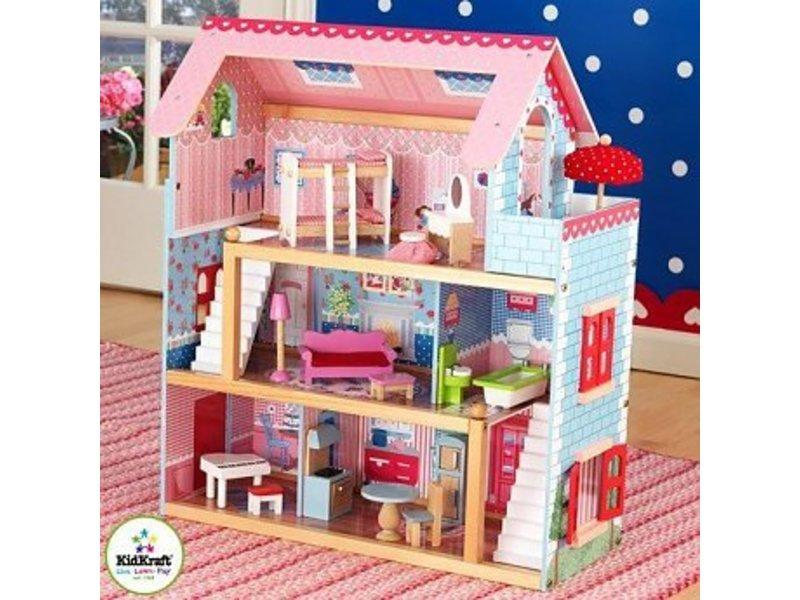 Kidkraft chelsea poppenhuis recreatiespeelgoed for Poppenhuis meisje