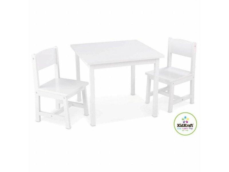 Kidkraft Aspen tafel met 2 stoelen – wit
