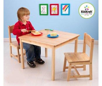 Kidkraft Aspen tafel met 2 stoelen – natuur