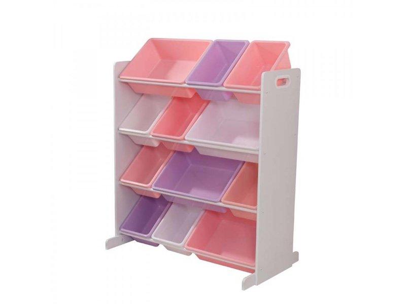 Kast Met Opbergbakken : Opbergkast sort it and store it wit met pastelkleurige