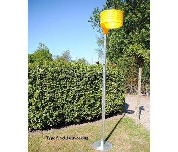 Korfbalpaal aluminium type 5 VELD