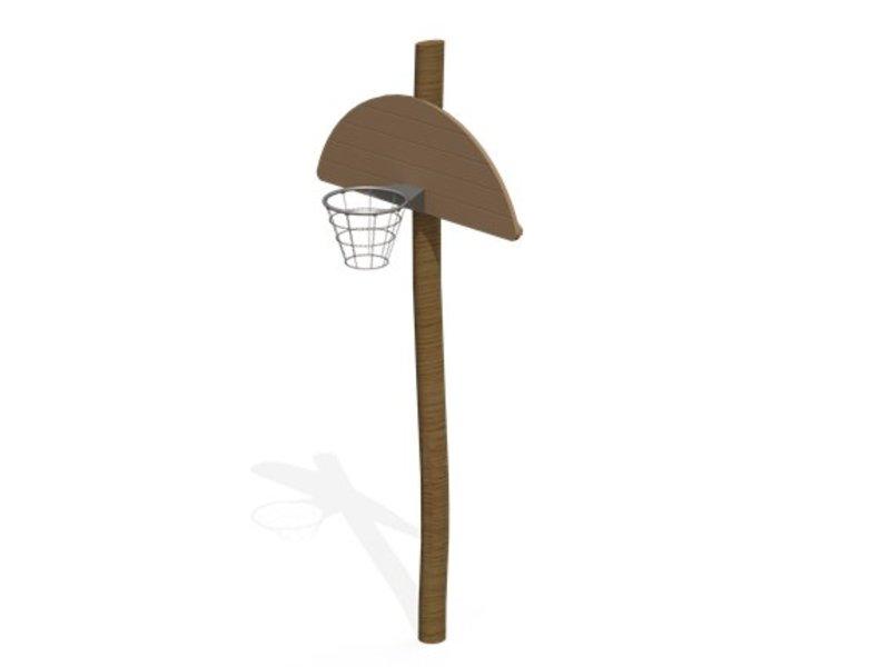 Basketbalpaal robinia halfrond