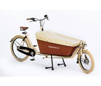 Bakfiets.nl Dekzeil Cargobike long: Crème