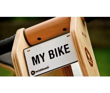 Wishbone Bike Naamplaatje