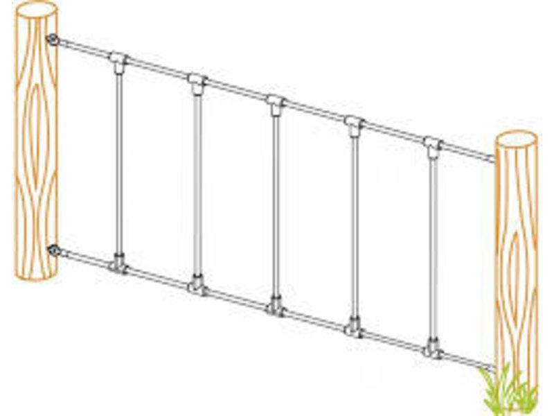 2 Gewapende touwen - groen - lengte 2976 mm - oogbout M12 x 140 mm - A