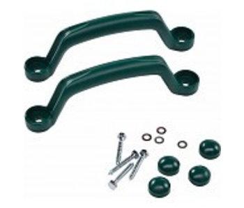 Handgrepenset in kunststof - 250 mm - groen