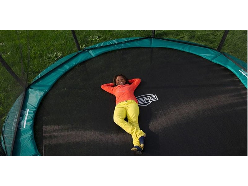 BERG InGround Trampoline Favorit 430 grijs + Safety Net Comfort