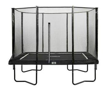 Salta Rechthoekige trampoline 153x214 met net Black Edition  kleur antraciet