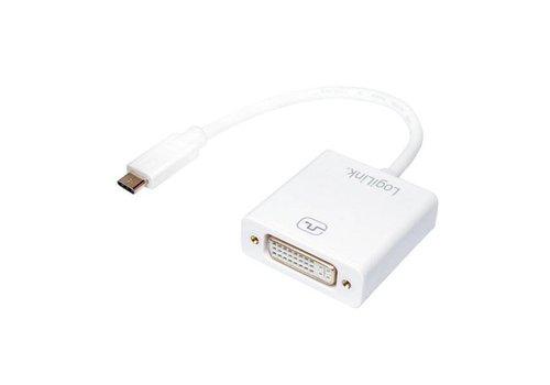LogiLink USB-C naar DVI Kabel Adapter Wit