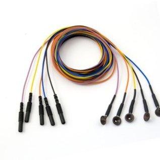 Bionen Reusable Cup Electrode, Ag/Au Ø 10mm, Multi-color -100cm