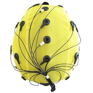 Bionen Headcap - 10 pre-wired Ag/AgCI Flat external - Maat 3 - 40cm c.c. - Pediatric  - Licht Blauw