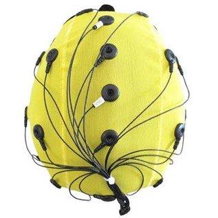 Bionen Headcap - 21 pre-wired Ag/AgCI Flat external - Maat 5 - 50cm c.c. - Adult - Geel